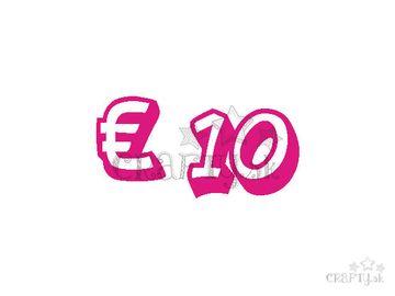 Darčeková poukážka v hodnote € 10