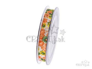 Dekoračná bavlnená stuha 13mm - letné kvety