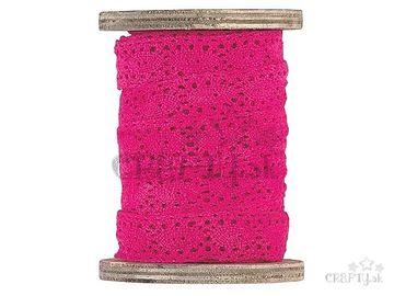 Dekoračná bavlnená stuha čipka 2cm - cyklamenová