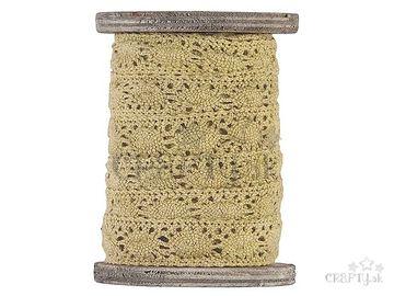 Dekoračná bavlnená stuha čipka 2cm - prírodná