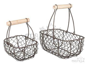 Dekoračné drôtené košíky 2v1