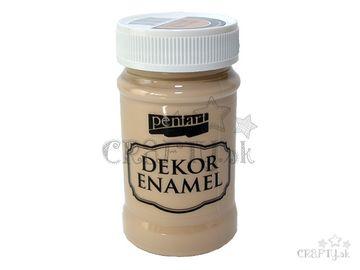 Dekoračný smalt - Dekor Enamel PENTART 100ml - Cappuccino