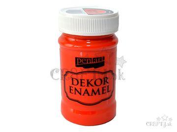 Dekoračný smalt - Dekor Enamel PENTART 100ml - oranžový