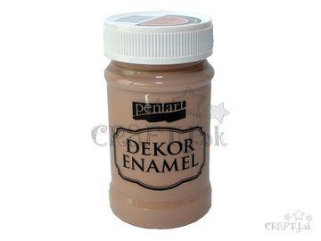 Dekoračný smalt - Dekor Enamel PENTART 100ml - vintage hnedý