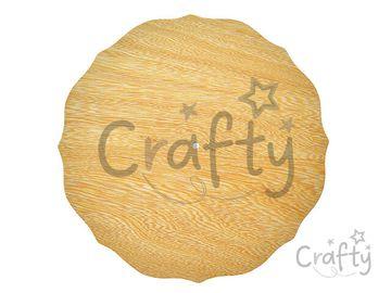 Drevená podložka k hodinám 30cm krojená