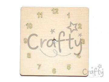 Drevená podložka k hodinám - štvorec 15cm