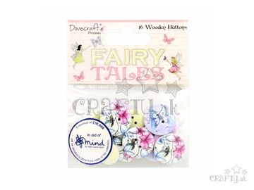 Drevené gombíky 16ks - Fairy Tales