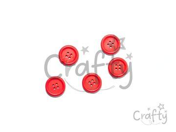 Drevené gombíky 20mm - 5ks - červené
