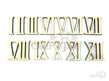 Drevené hodinové čisla rímske - 50mm