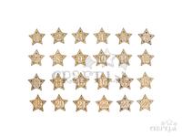 Drevené ozdobné adventné čísla - zlaté hviezdy