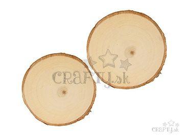 Drevené podložky 2ks okrúhle 11-12cm - rezané kmene 2ks