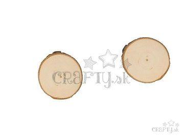 Drevené podložky 2ks okrúhle 7-9cm - rezané kmene 2ks