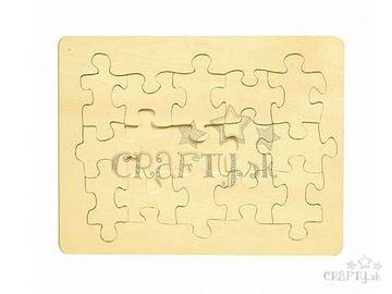 Drevené puzzle bez potlače A4