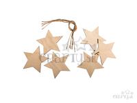 Drevené závesné hviezdy 6ks