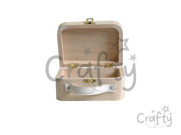 Drevený mini kufrík - 13x9x6cm