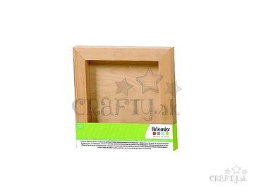 Drevený štvorcový rám na dekorovanie - 20x20cm