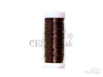 Drôt 0,4mm 30g - hnedý