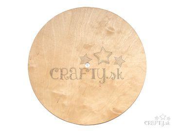 Dýhová podložka k hodinám kruh 25cm 2-3mm
