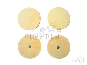 Dýhové magnetky kruhy - 4ks
