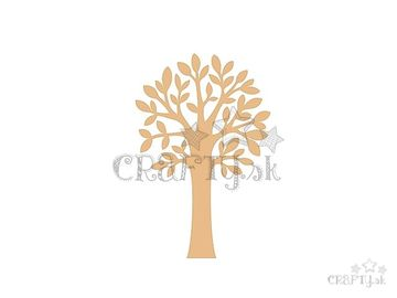 Dýhové výrezy 3ks - listnatý strom