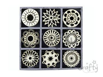 Dýhové výrezy 45ks - ornamenty