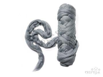 Farebná česaná Merino vlna - plsť 50g - holubia sivá