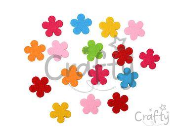 Filcové výrezy 2,5cm - kvety