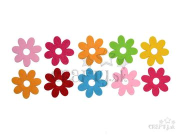 Filcové výrezy 4cm - kvety