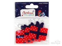 03c7583cf5 Filcové výrezy 4ks Christmas Village - darčeky
