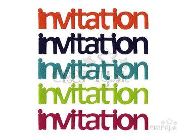 Filcové výrezy 5ks - invitation