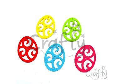 Filcové výrezy 6cm - vajíčka ornamentom