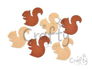 Filcové výrezy 6cm - veveričky