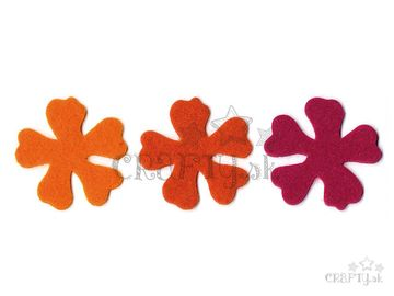 Filcové výrezy 6ks - kvety