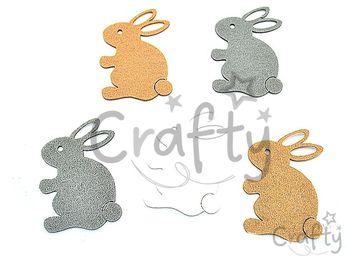 Filcové výrezy 7cm - zajace