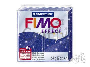 Modelovacia hmota FIMO Effect 56g - modrá s glitrami