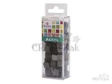 Glitrované mozaikové kamienky 1x1cm 50g - čierne