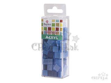 Glitrované mozaikové kamienky 1x1cm 50g - lagúna