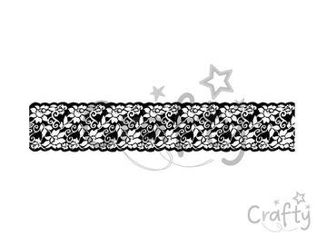 Gumená HD pečiatka - kvetinová čipka