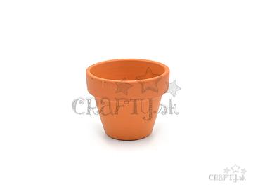Hlinený kvetináč - črepník 4,7cm