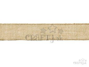 Jutová stuha 5cm - prírodná 5m