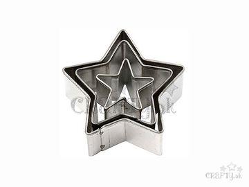 Kovové vykrajovačky 3ks - hviezdičky