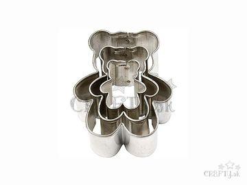 Kovové vykrajovačky 3ks - medveď
