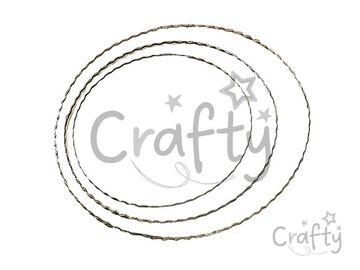 Kovový kruh - základ na veniec/lapač snov 25cm vlnkovaný