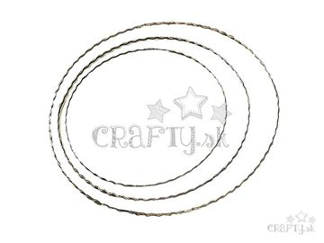 Kovový kruh - základ na veniec/lapač snov 30cm vlnkovaný