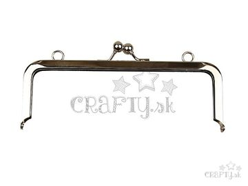 Kovový rámček na peňaženku hranatý, základ - 19 cm