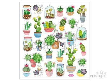 Kreatívne nálepky A5 - kaktusy a opuncie