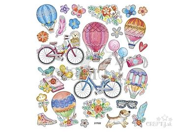 Kreatívne nálepky - bicykle a balóny