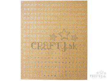 Kreatívne nálepky - kraftová abeceda 306ks