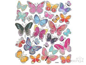 Kreatívne nálepky - metalické motýle