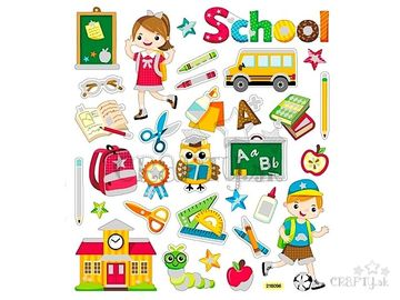 Kreatívne nálepky - škola